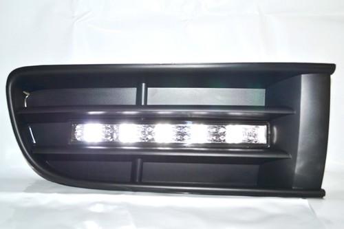 LED TFL Tagfahrlicht Dimmfunktion CHROM + Gitter ohne Nebel VW POLO 9N Bj.01-05