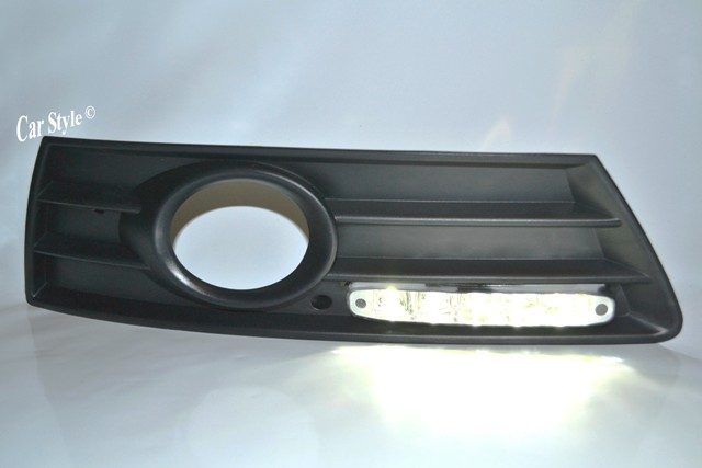 1 Set LED Tagfahrlicht CHROM mit Gitter für Nebel VW PASSAT CC ab Bj.2008 +