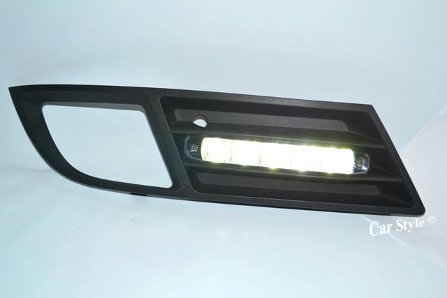 LED TFL Tagfahrlicht CHROM integriert im Gitter OPEL VECTRA C ab Bj.2005 +