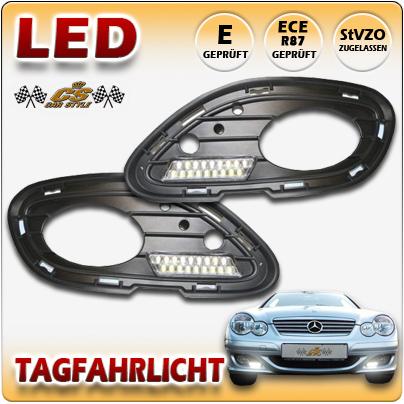 LED TFL Tagfahrlicht + Kappe Mercedes Benz CL Sportcoupe W203 Bj.04/2004-05/2008