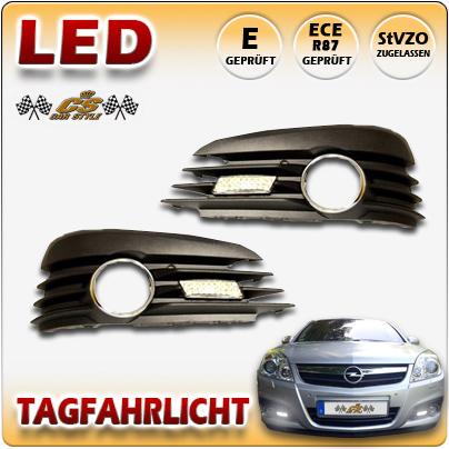 LED Tagfahrlicht SET Chrom Dimmfunktion im Nebel Gitter OPEL Signum II 2005-2010