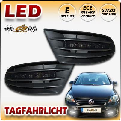 LED TFL Tagfahrlicht BLACK im Gitter ohne Nebel VW Golf 5 Plus TYP 5M1, 1KP Bj12/2004-2009