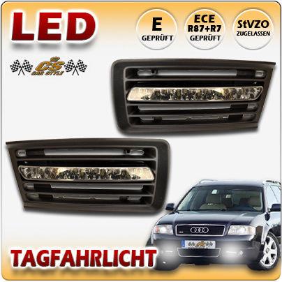 Audi A6 TYP C5 4,2 quattro & S6 LED Tagfahrlicht schwarz im Gitter Bj.1999-2002