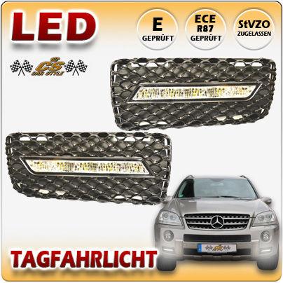 Mercedes Benz ML W164 AMG 63 OSRAM LED Tagfahrlicht Set im Gitter Bj.2005-2008