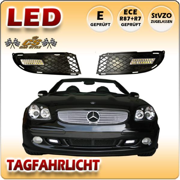 Mercedes Benz SLK R170 LED Tagfahrlicht Set im Gitter Bj.2000-2004 mit Dimmfunktion