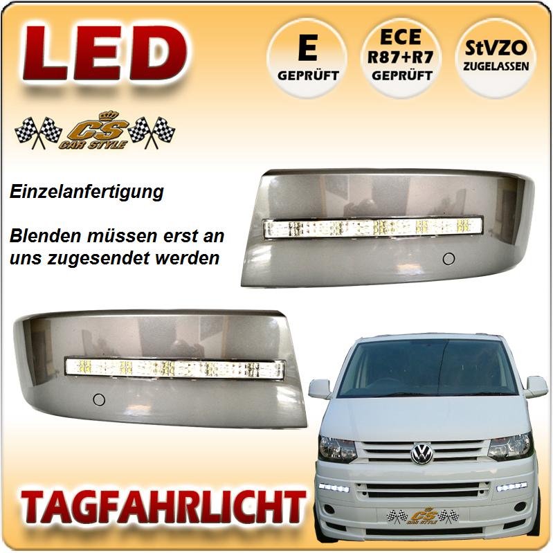 VW T5 LED Tagfahrlicht Set CHROM ab Bj.10/2009 + ---> Facelift Modell