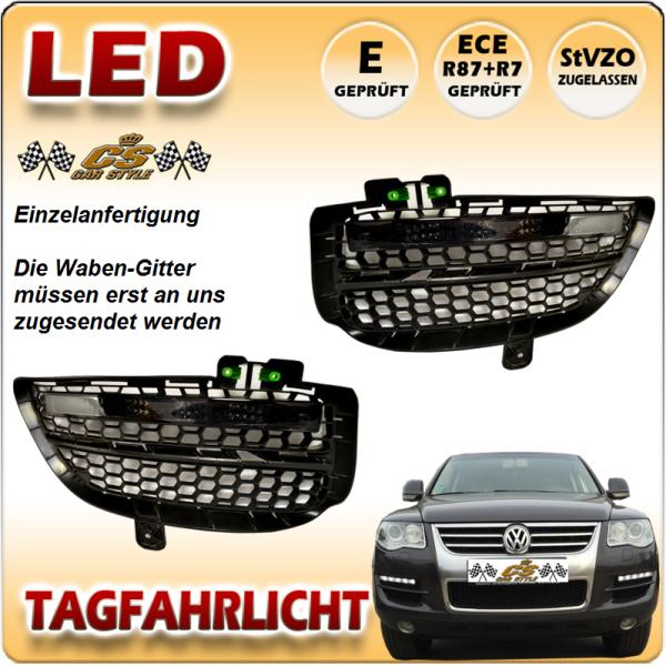 VW Touareg I TYP 7LA LED Tagfahrlicht Set BLACK Bj10/2006 - 2010 -->Facelift