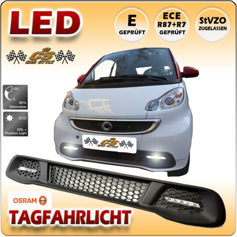 SMART fortwo OSRAM LED Tagfahrlicht Set im Gitter Bj. 05/2012 -2015 Dimmbar