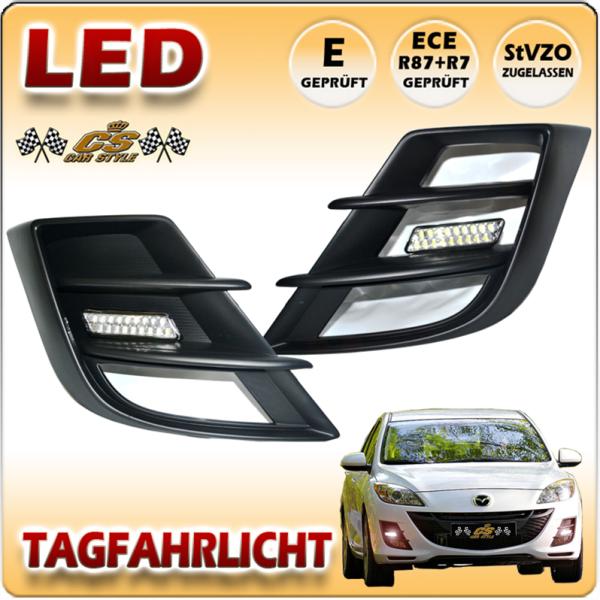 Mazda 3 Sport & Stufenheck Typ BL LED Tagfahrlicht Set im Gitter Bj.2009-2011