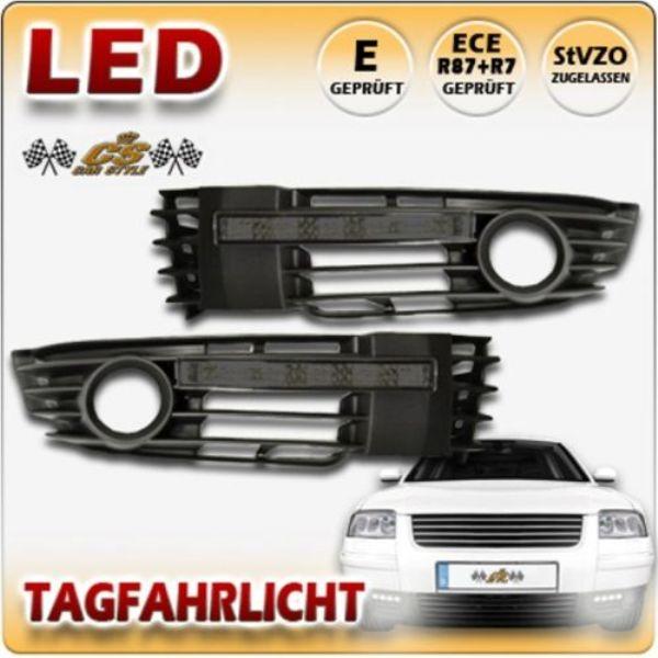 VW Passat 3BG LED Tagfahrlicht Set SCHWARZ im Nebel Gitter Bj.2000-2005