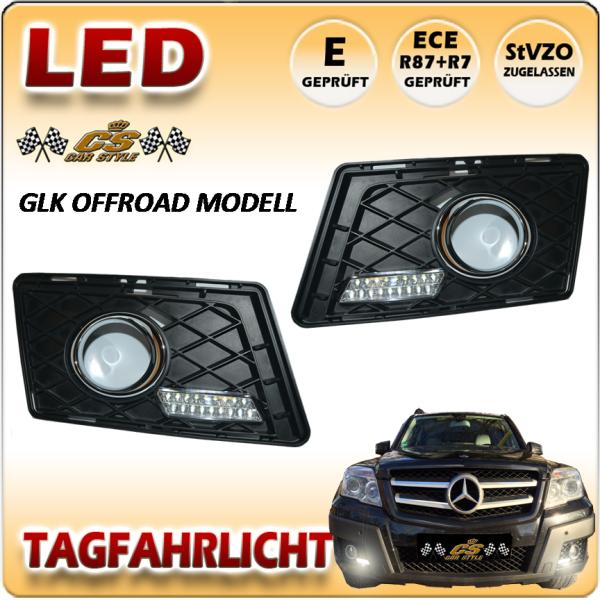 Mercedes Benz GLK Offroad X204 LED Tagfahrlicht SET im Gitter Bj. 2008-2011