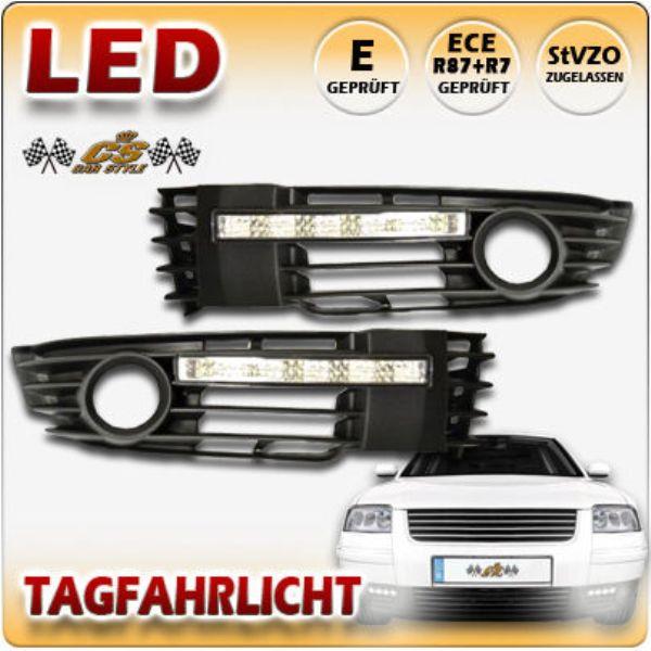 VW Passat 3BG LED Tagfahrlicht Set CHROM im Nebel Gitter Bj.2000-2005