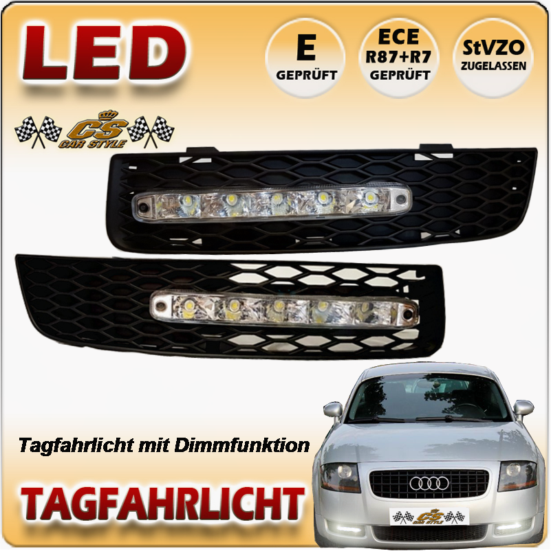 Audi-TT 8N Coupe Roadster LED Tagfahrflicht-Set im Gitter Bj 1998-2006