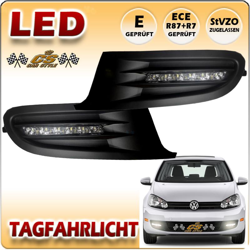 VW Golf 6 LED Tagfahrlicht TFL Set im Gitter Bj.2008-2012
