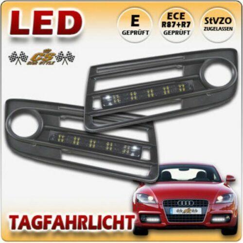 Audi TT S Line TYP 8J Bj.2006-2014 LED Tagfahrlicht schwarz im Nebelgitter NEU